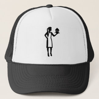 Female pastry chef trucker hat