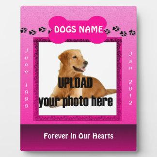 Female Pink Dog Memorial Display Plaques