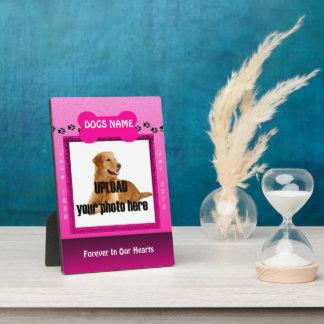 Female Pink Dog Memorial Plaque