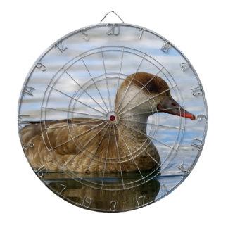 Female pochard duck, netta rufina dartboard