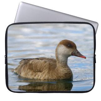 Female pochard duck, netta rufina laptop sleeve