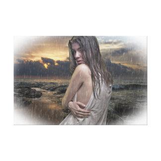 female portrait canvas print