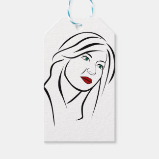 Female Portrait Gift Tags