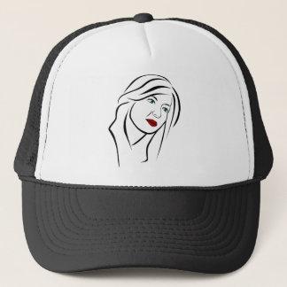 Female Portrait Trucker Hat