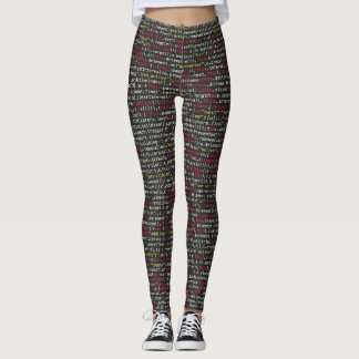 Female Programmer Geek Leggings