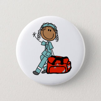 Female Respiratory Therapist Button