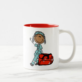 Female Respiratory Therapist or EMT Two-Tone Coffee Mug