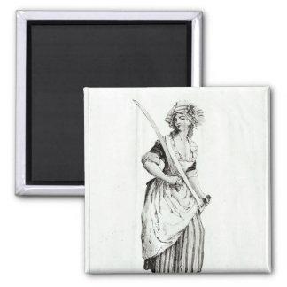 Female Sans-Culotte, 1792 Square Magnet