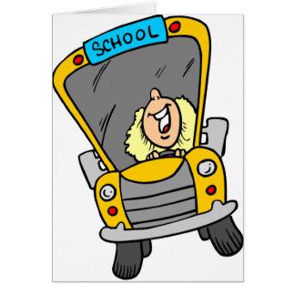Female School Bus Driver Greeting Card