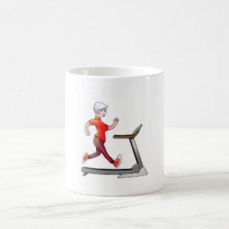 Female Senior Fitness Treadmill Mug
