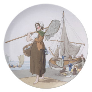 Female Shrimper, from 'Costume of Great Britain', Party Plates