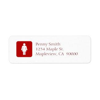 Female Sign Return Address Label