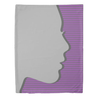 Female Silhouette Duvet Cover