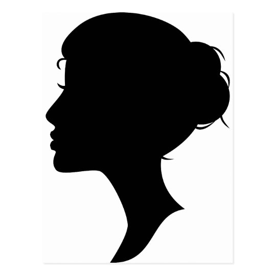 Female Silhouette Postcard