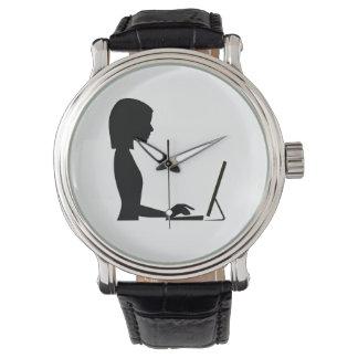 Female Silhouette Watch