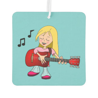 Female Singer and Guitar Player Air Freshener