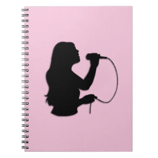 Female Singer Pink Notebook