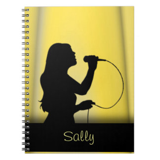 Female Singer Yellow Curtain Personal Notebook