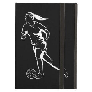 Female Soccer iPad Air Case with No Kickstand