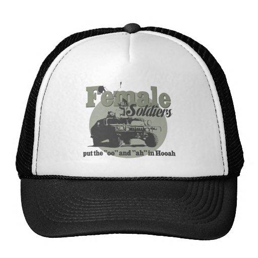 Female Soldiers Trucker Hats