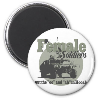 Female Soldiers Refrigerator Magnet