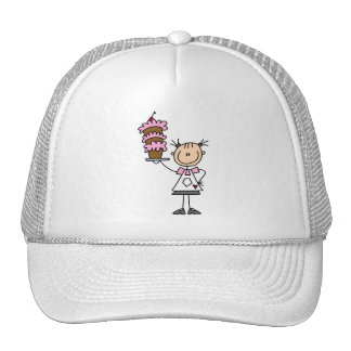 Female Stick Figure Baker Tshirts and Gifts Hats
