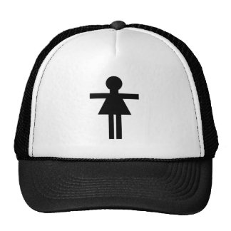 Female Stick Figure Trucker Hat