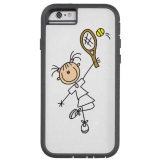 Female Stick Figure Tennis Player Tough Xtreme iPhone 6 Case