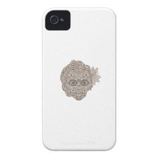 Female Sugar Skull Calavera Retro iPhone 4 Case-Mate Case