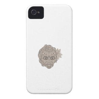 Female Sugar Skull Calavera Retro iPhone 4 Cases