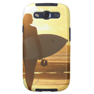Female Surfer on the Beach Galaxy S3 Cover