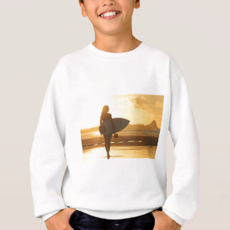 Female Surfer on the Beach Sweatshirt