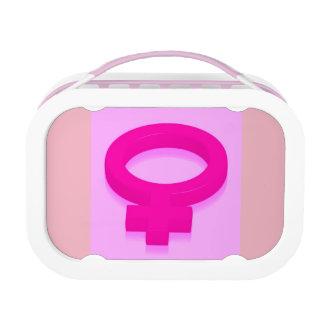 FEMALE SYMBOL LUNCH BOX