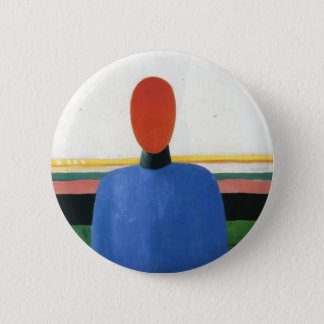 Female Torso by Kazimir Malevich 2 Inch Round Button
