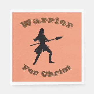 Female Warrior For Christ Napkins