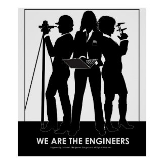 (Female) We Are the Engineers poster
