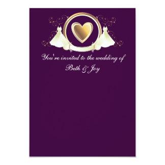 Female wedding invitation
