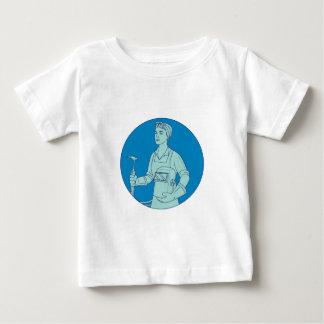 Female Welder Acetylene Welding Torch Mono Line Baby T-Shirt