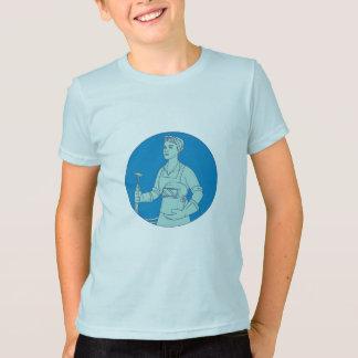 Female Welder Acetylene Welding Torch Mono Line T-Shirt