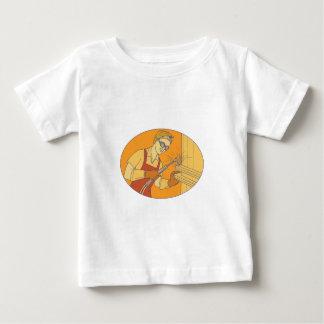 Female Welder Acetylene Welding Vintage Mono Line Baby T-Shirt