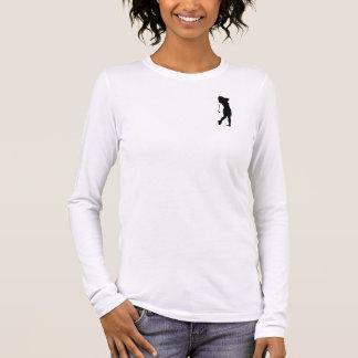 Female woman golf player silhouette long sleeve T-Shirt