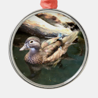 Female Wood Duck Metal Ornament