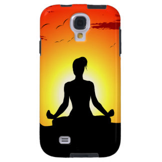 Female Yoga Meditating Sunshine Samsung Galaxy S4