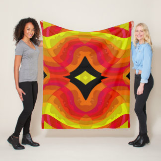 Females Faces - Red/Yellow/Orange/Pink/Black Fleece Blanket