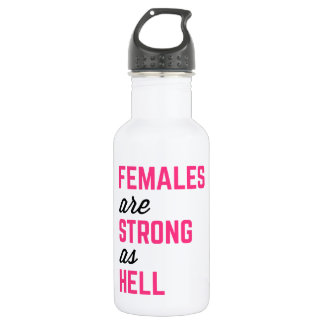 Females Strong Hell Gym Quote 532 Ml Water Bottle