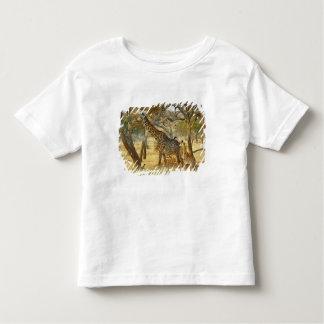 Femelle adulte et girafe juvénile, Giraffa T-shirt Pour Les Tous Petits