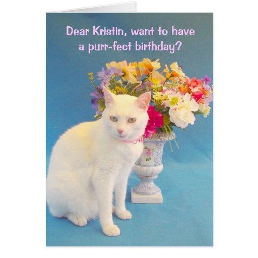 Feminine Birthday Greeting Card