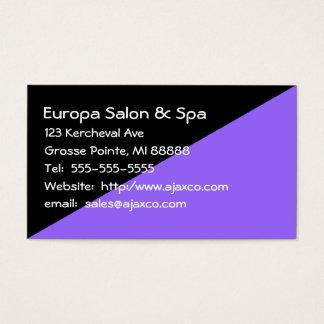 Feminine Black and Lavender Sales Business Card