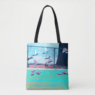 Feminine but Weird Urban Tote... With Pigeons! Tote Bag