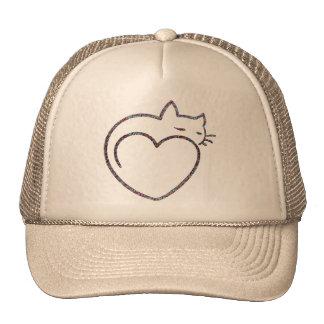 "Feminine cap ""Love cats "" Trucker Hat"